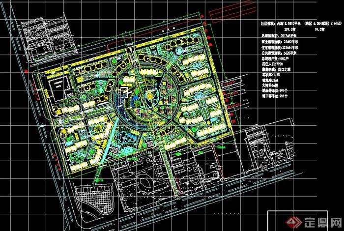 区规划设计总平面图,平面布局样式比较美观