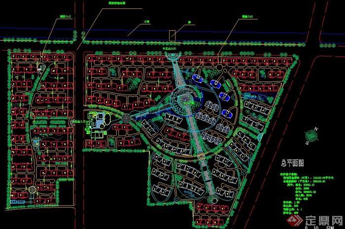 某小区规划设计总平面图cad图纸图片