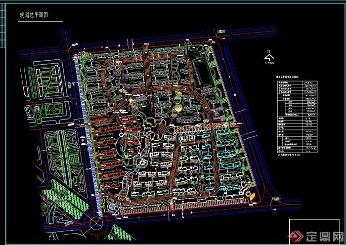 某居住区修建性规划设计总平面图图片