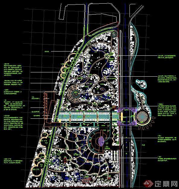 厦门某海洋公园规划设计总平方案图