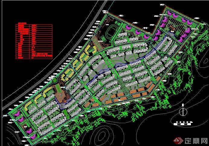 某中惠沁林山庄住宅景观规划设计cad总图