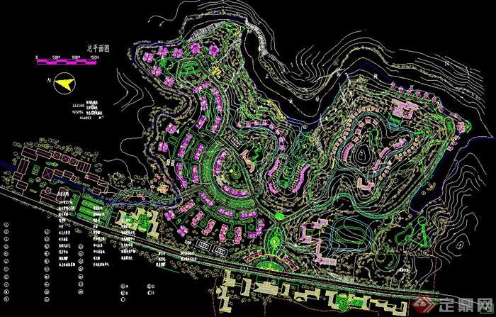 某小区景观规划设计cad总平面图