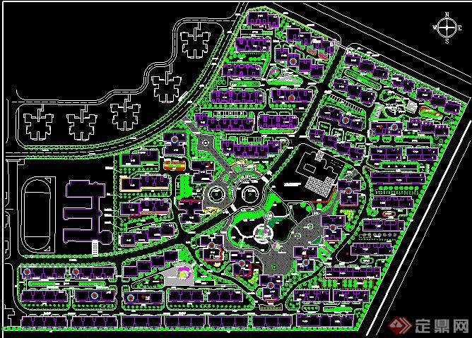 居住小区规划设计总平面图图片