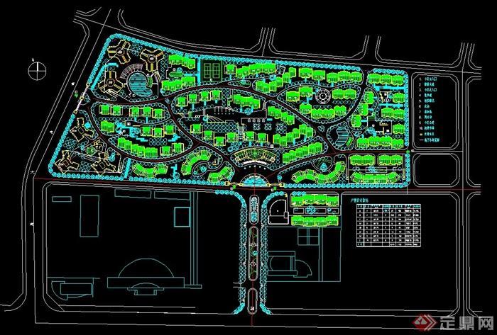 居住区规划设计CAD总平面图图片