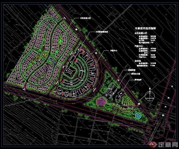农民安置小区规划设计总平图