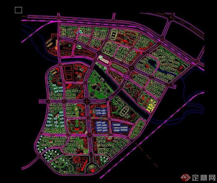 某大型综合小区规划设计总平图