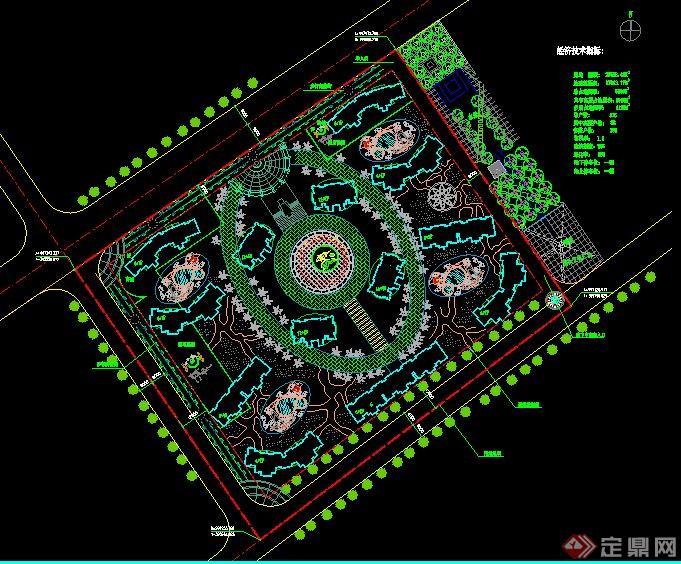 住宅小区规划设计总平面图