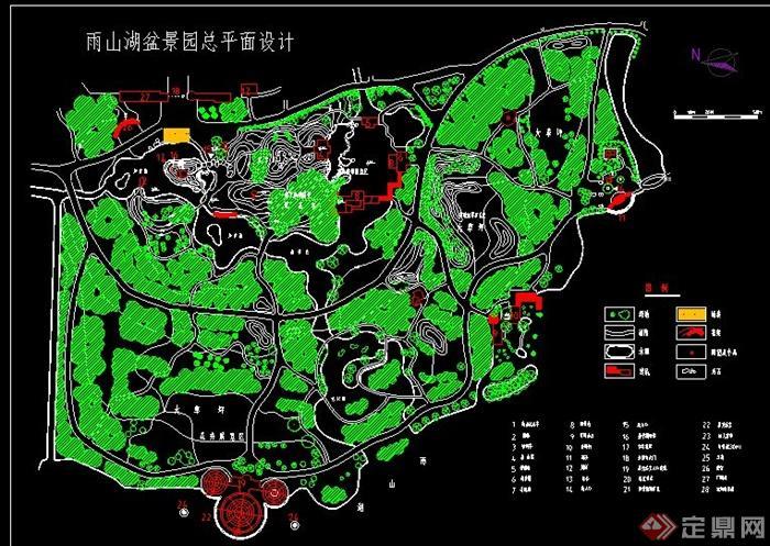 某公园景观规划设计cad平面图