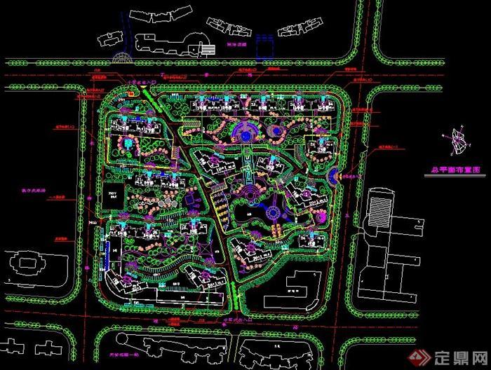 小区详细规划总平面布置图图片