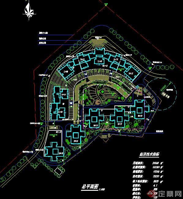 某高层居住小区规划设计总平面