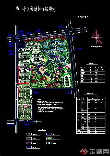 某小区规划设计CAD总平面布置图图片