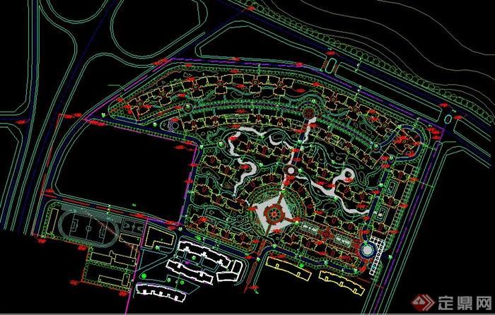某居住小區規劃設計總圖