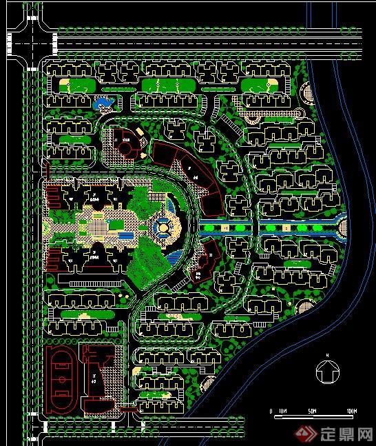 某居住区景观规划设计cad平面图