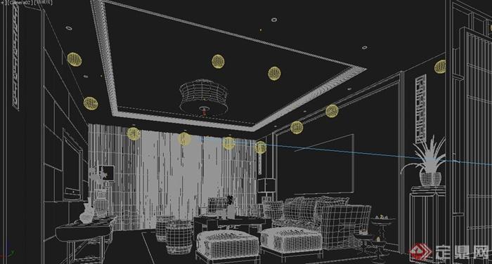某间客厅室内设计3dmax模型