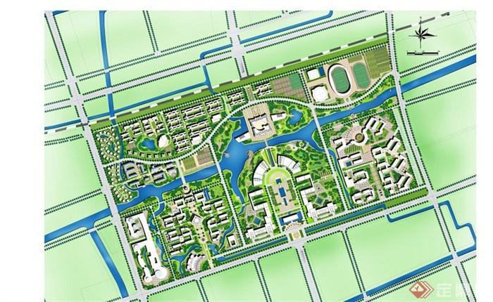 6个不同大学校园规划设计文本[原创]图片