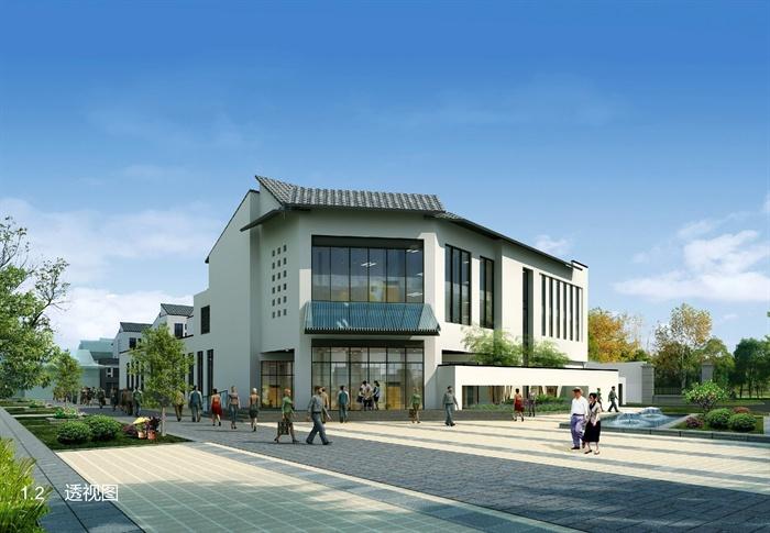 某中式教程养老院、敬老院住宅去建筑设计(安装电含水风格图纸图片