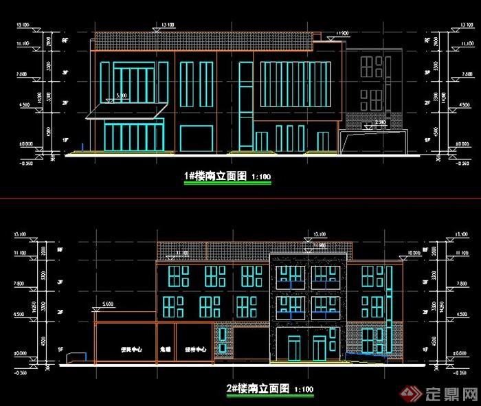某中式风格养老院,敬老院住宅去建筑设计(含效果图)