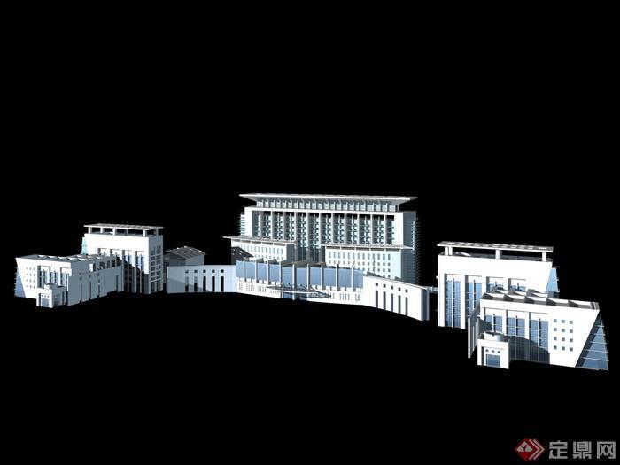 某办公大楼建筑设计3DMax模型