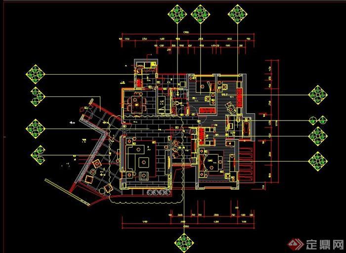 某两室两厅室内户型设计CAD图附照片