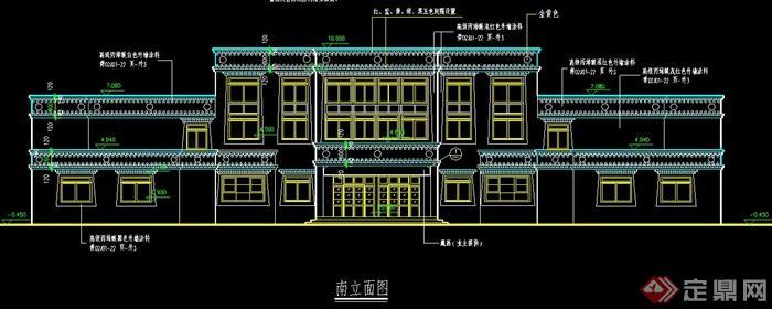 中式藏族风情医院建筑设计图纸