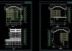 模古典中式七层徽派商住房建筑设计cad图,该设计七层楼层平面图片