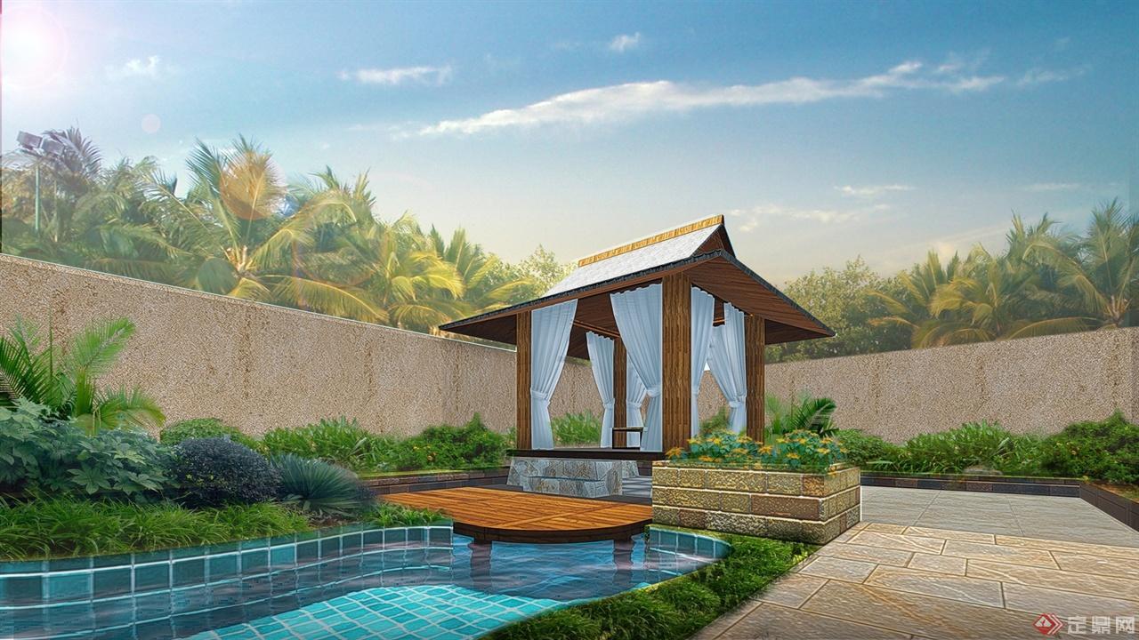 版纳某东南亚风格庭院景观设计方案