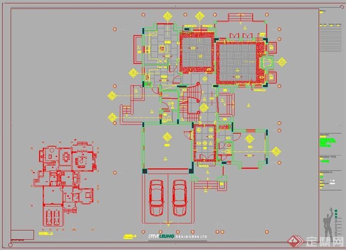 餐厅装饰手绘立面图_平面设计图