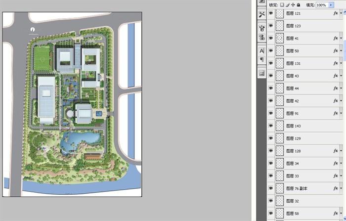 某产业园景观规划设计总平面图psd格式[原创]