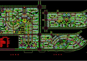 某住宅小区景观规划设计总平面图-方案图DWG园林景观设计方案效果