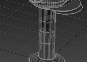 现代风格园林景观柱3dmax模型