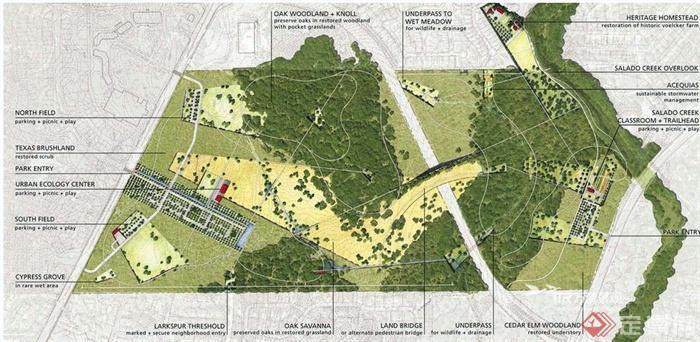 国外Phil Hardberger公园景观设计案例欣赏(5)