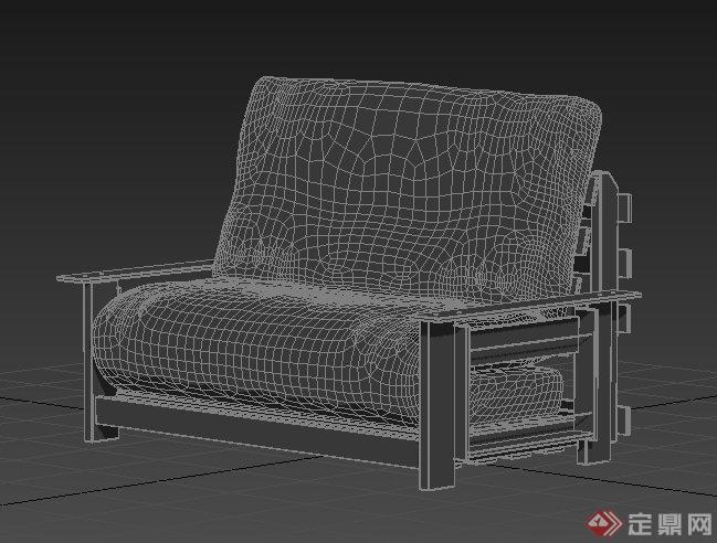 中式风格室内家具沙发3dmax模型(1)