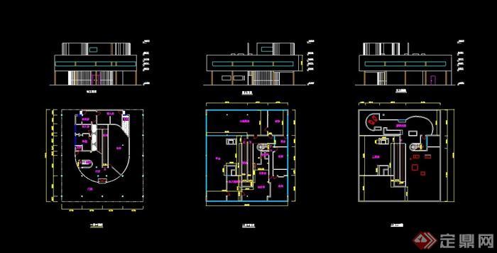 某萨伏伊方案建筑设计别墅(含CAD+SU+PDD西安留园别墅平面图图片