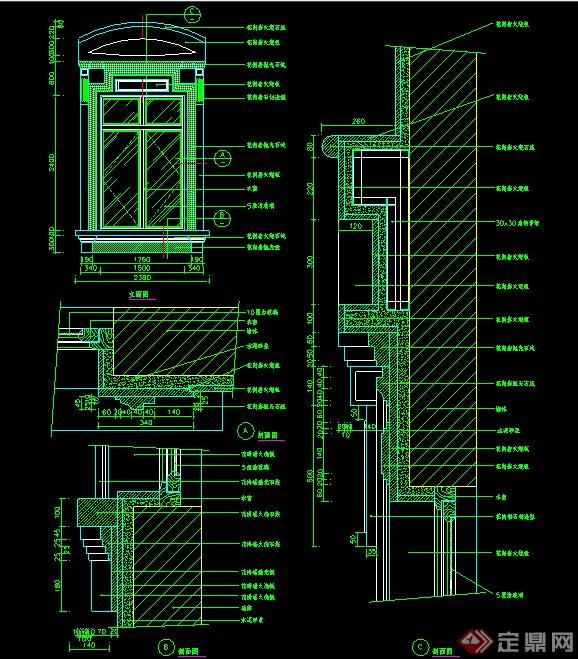 欧式风格窗户施工图