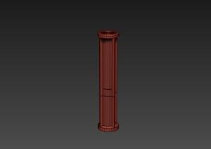 某建筑节点柱体设计3DMAX模型