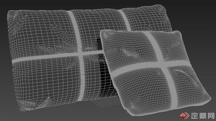 室内装饰素材枕头3dmax模型