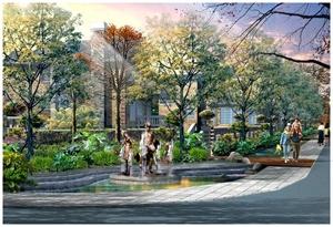 昆明世林国际小区景观设计效果图