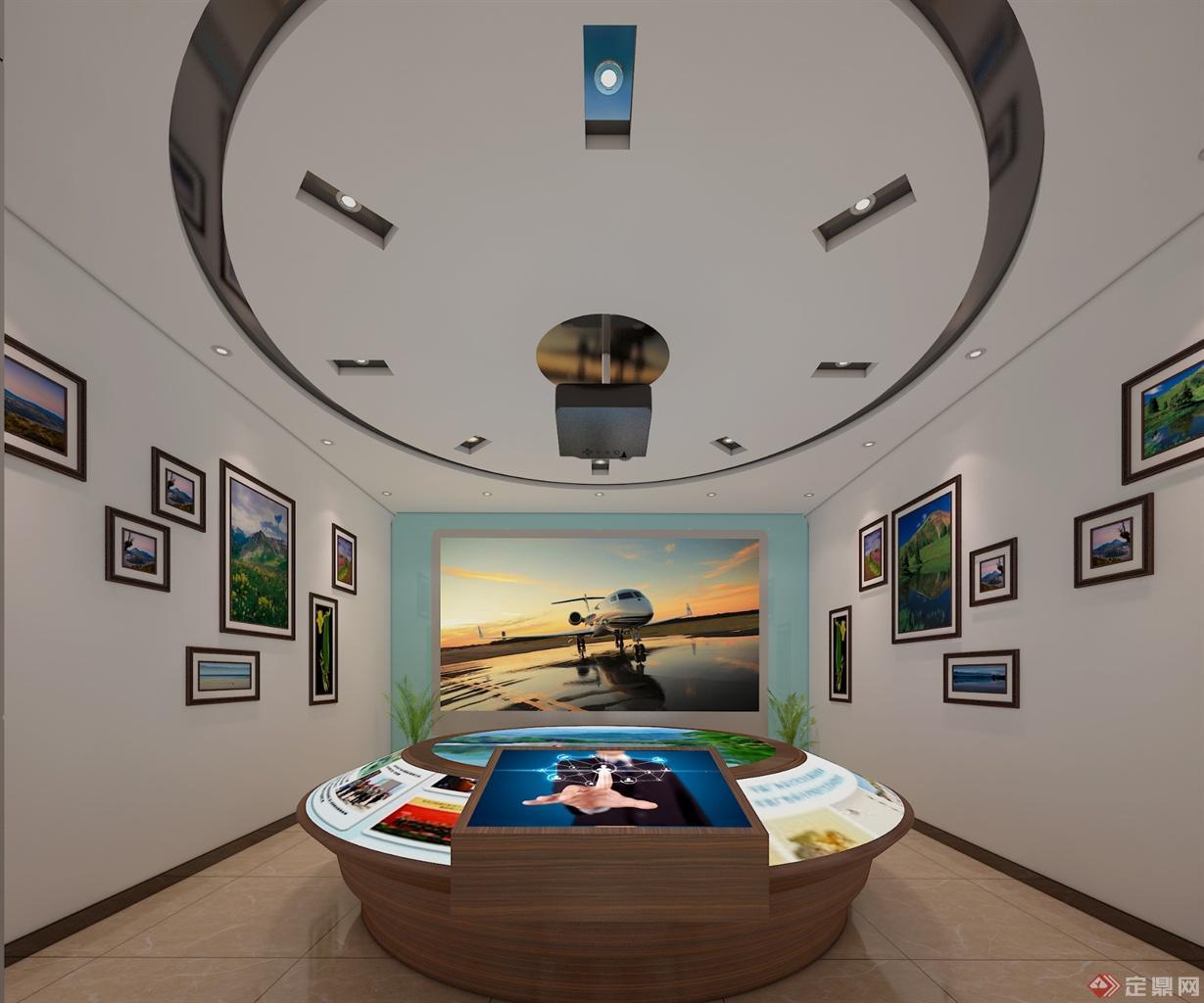 荣誉展示厅室内效果图