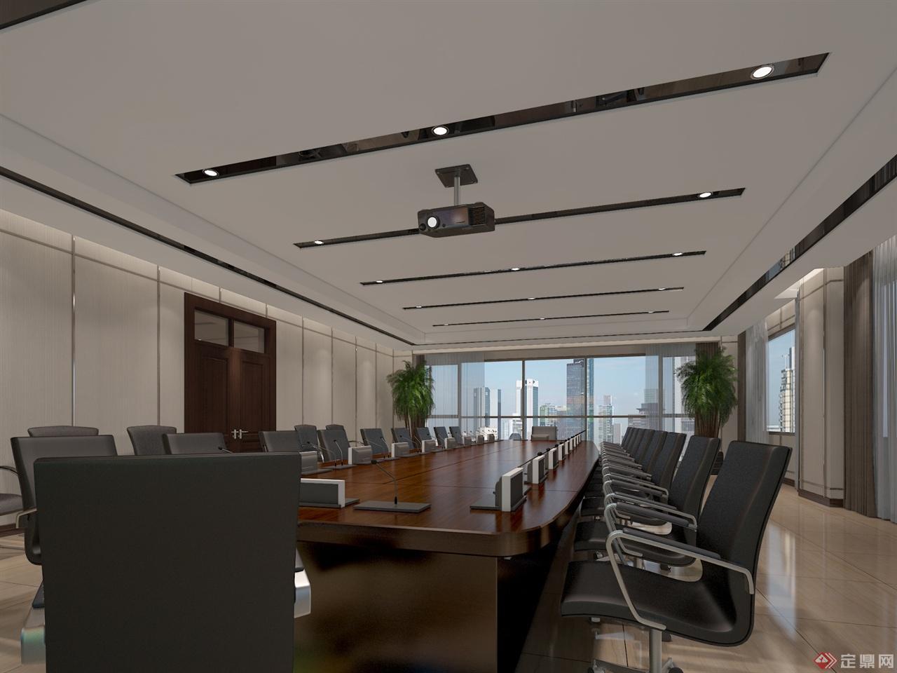 会议室室内效果图