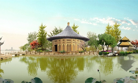 聊城荷香島改造工程