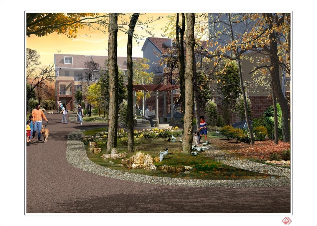 昆明某别墅区景观设计效果图