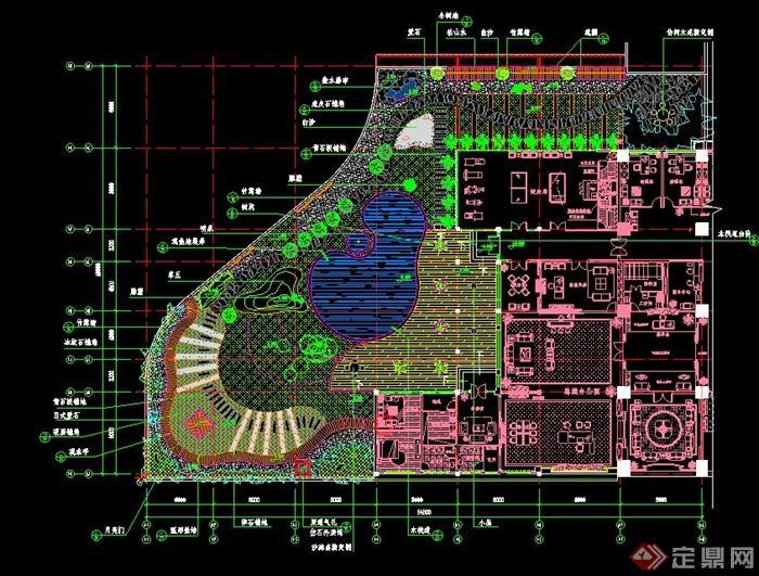 某办公楼屋顶花园景观设计施工图[原创]