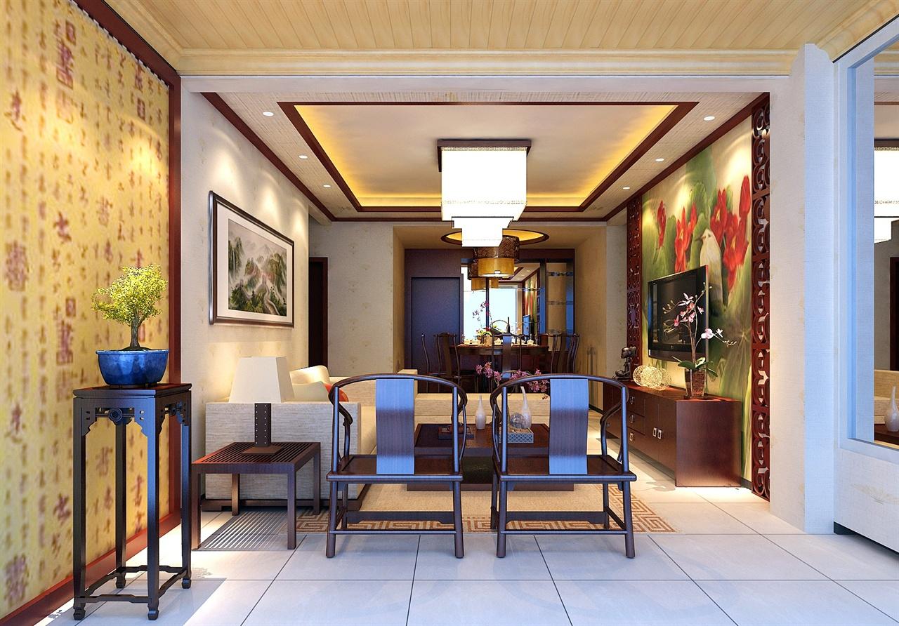 锦官新城新中式风格室内设计效果图