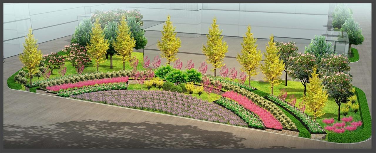 辦公區綠化景觀設計