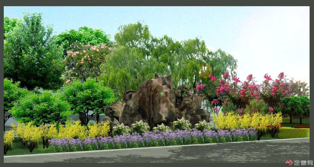 办公区附属绿地的绿化景观设计                            优秀作