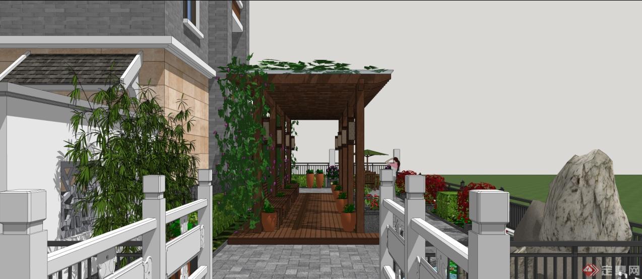 别墅小庭院景观方案