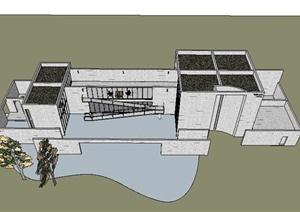 五款欧式住宅建筑设计SU(草图大师)模型与CAD设计图-其他3D模型