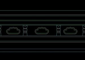 柱子底座立面图