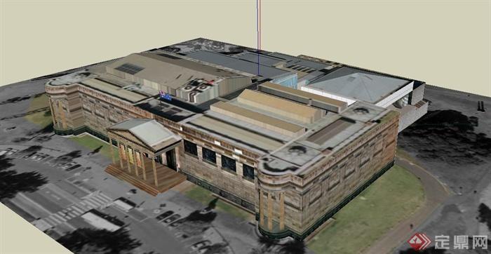 展览馆建筑设计su模型