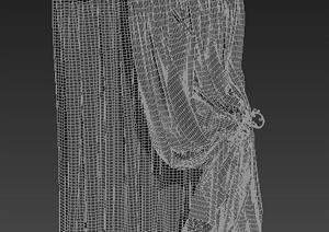 dmax窗帘模型下载_3dmax窗帘013DMAX模型常用构件3D素材模